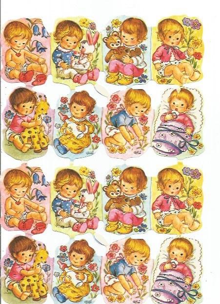 Nostalgische Poezieplaatjes  Kruger 171/272 Kindjes