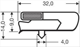 Deurrubber Asber koelwerkbank 390 x 586 mm