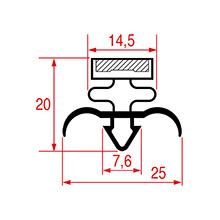 Deurrubber SPECIAAL 740 x 1745 mm 4-zijdig