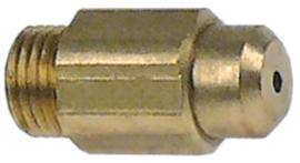 gasinspuiter draad M10x1 SB 12 boring ø 1,2mm flessengas gasdruk 30mbar