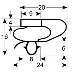 deurrubber Polar 1695 x 572