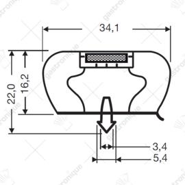 Deurrubber Infrico koelwerkbank (459 x 609 mm)