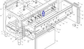 Horizontaal deurrubber voor 65/110 CFGG oven