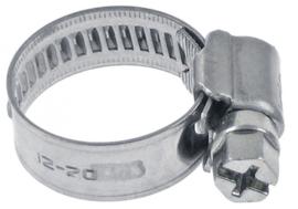 Slangklemmen RVS W4 ø 12-20mm breedte 9mm vpe 1stuk