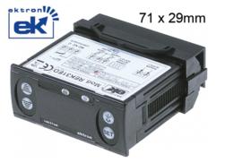 elektronische regelaar EKTRON type REK31ED-0021 inbouwmaat 71x29mm 230V spanning AC NTC/PTC