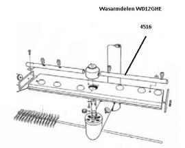 Naspoelarm sproeiers buiten WD-12GHE [4516]