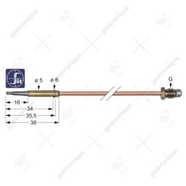 Thermokoppel glad M8 x 60 cm stift 5 mm