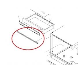 Rubber klep deurdichting bovenin