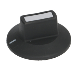knop schakelaar nulstreep ø 50mm as ø 6x4,6mm afvlakking onder