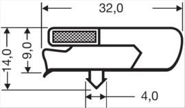 Deurrubber koelwerkbank 270 x 390 mm