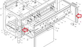 Verticaal deurrubber voor 65/110 CFGG oven