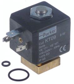 magneetventiel 2-weg 230 VAC met o-ringen PARKER spoeltype KT09 50Hz flens 22x22mm