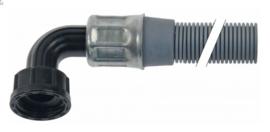 """afvoerslang L 1520mm aansluiting 3/4"""" slang ø binnen 18mm slang ø buiten 22mm"""