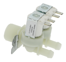 "magneetventiel dubbel recht 230VAC ingang 3/4"" uitgang 10mm DN10 RPE"