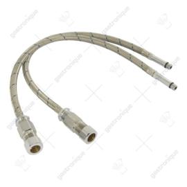 SET Aansluitslangen T&S 15 mm knel mét terugslagklep