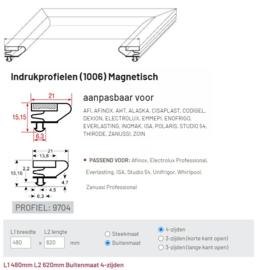 Deurrubber profiel 1006 / 9704 (480 x 620 mm) buitenmaat