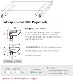 Deurrubber profiel 1006 / 9704 (480 x 300 mm) buitenmaat