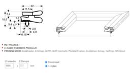 Deurrubber Jumbo koelkast / vrieskast 737 x 1699 mm