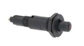 piëzo-ontsteker behuizing kunststof drukkend inbouw ø 18mm aansluiting ø2,4mm