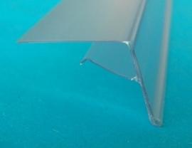 Scanprofiel/prijsstrip 26mm voor glasplaat transparant Td20012006
