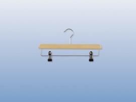 Houten hanger 34cm met klemmen 50st Tus7107009