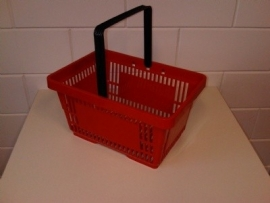 Winkelmandje rood 1 handgreep 22 liter Td06000237