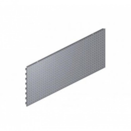 Perfo rugwand 66.5x40cm alu/grijs Tm34296GR