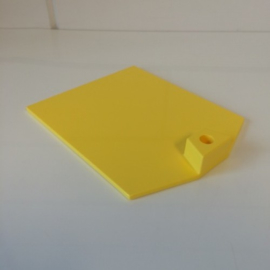 Voetplaat kunststof zwaar geel Td12021203
