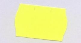 Etiket 26x16 golfrand geel permanent Td27183016