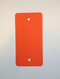 PVC-labels 54x108mm oranje 2 gaten 1000st. Td35987114
