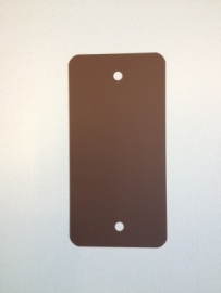 PVC-labels 54x108mm bruin 2 gaten 1000st. Td35987120