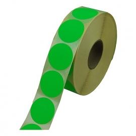 Prijssticker Ø35mm fluor groen 1000/rol Td27501735