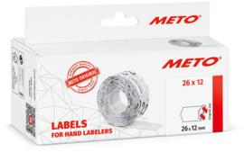 Prijsetiket Meto wit diepvries 26x12mm MT09517184