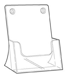 Folderbak A4 staand Td99160014