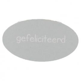 Etiket gefeliciteerd zilver 500st Tpk548187