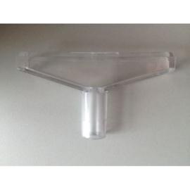 T-stuk transparant 6cm Td12015000