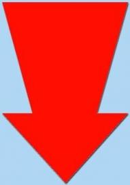 Pijl fluor rood 15cm 50st. Tfr15014P
