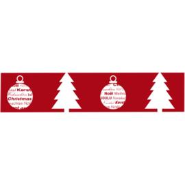 Tape Merry Christmas rood Tpk553030