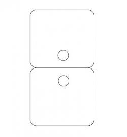 Byoux-kaartje type 22 - bxh 60x110 mm Td15450022