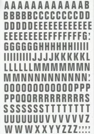 Magnetische letters 23mm wit/zwart Td13049103