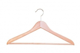 Beuken kledinghanger geknikt met broeklat 100st. Tms7121