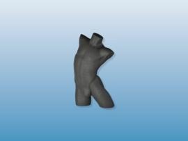 Herenbuste zwart zonder arm BL01029