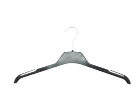 Kunststof blouse/shirthanger zwart 43cm 350st TU43-MT