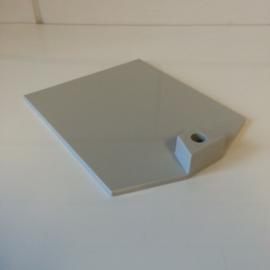 Voetplaat  kunststof zwaar grijs Td12021202