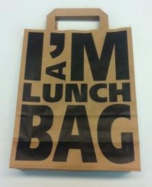 Papieren draagtas -I'm a lunch bag- 22/10x28cm Tpk270217