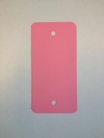 PVC-labels 54x108mm rose 2 gaten 1000st. Td35987115