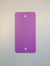 PVC-labels 54x108mm paars 2 gaten 1000st. Td35987119