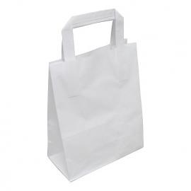 Papieren draagtas wit 17.5/9.5x21cm Tpk270135