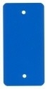 PVC-labels 54x108mm blauw 2 gaten 1000st. Td35987118