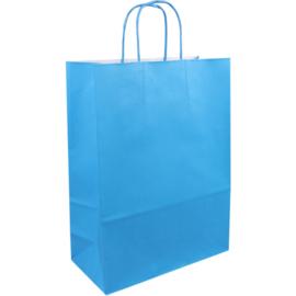 Draagtas papier blauw 26/12x35cm Tpk270627